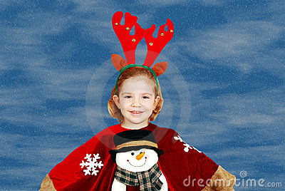Beauty little girl Christmas