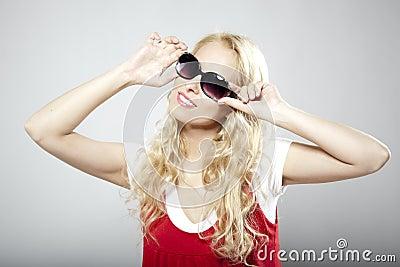 Beauty luxury woman in sunglasses