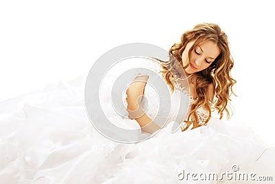 Beauty lying bride