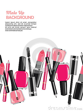 Beauty make up cosmetics abstract background