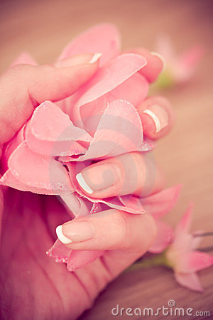 Beauty manicure and spa relaxing wellness