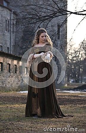 Beauty in medieval dress