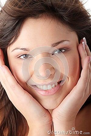 Beauty model in studio