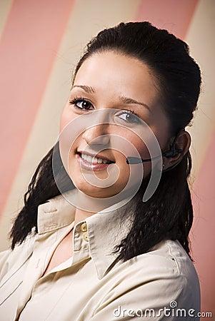 Beauty operator woman