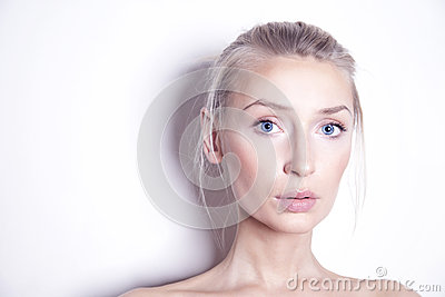 Beauty portrait of blonde woman