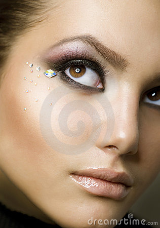 Beauty portrait. Creative makeup