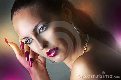 Beauty portrait of glamour model woman
