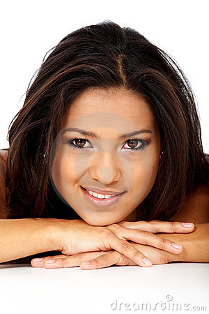 Beauty portrait of a hispanic girl