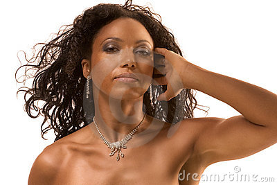Beauty portrait of middle aged ethnic woman