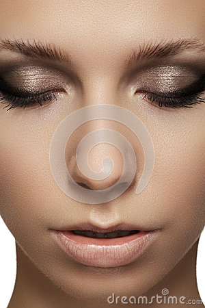 Beauty portrait of model face  with fashion visage