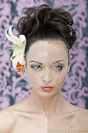 Beauty portrait retouching