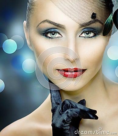 Free Beauty Portrait.Retro Style Royalty Free Stock Photo - 16737705