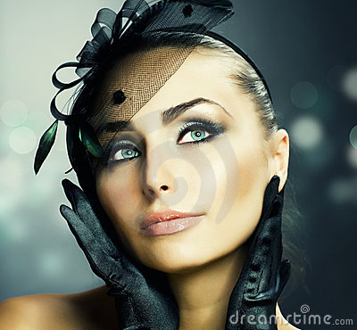 Beauty Portrait.Vintage Styled