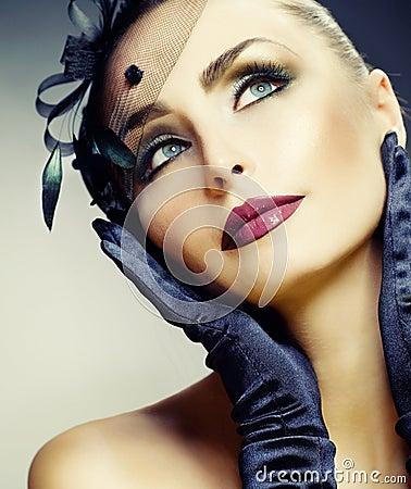 Free Beauty Portrait.Vintage Styled Make-up Royalty Free Stock Image - 16688996