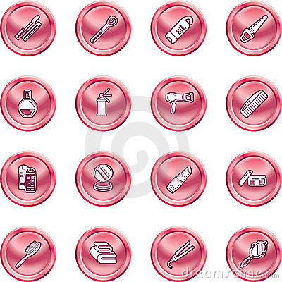 Free Beauty Products Icon Set Royalty Free Stock Image - 2839286