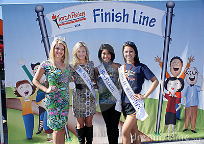 Beauty Queens Endorse Charity Editorial Stock Photo