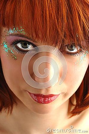 Beauty redhead woman portrait