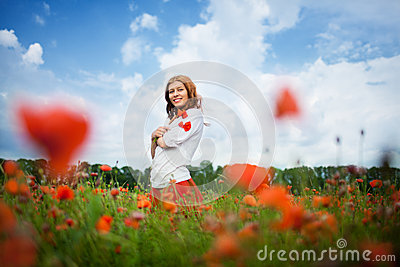 Beauty redheaded woman