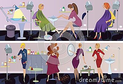 Beauty salon  banner pedicure