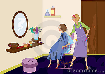 Beauty salon brunet looking