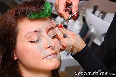 Beauty salon - eyebrows care