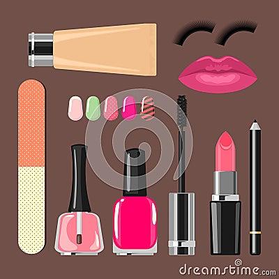 Beauty salon manicure salon  cosmetics and accesso