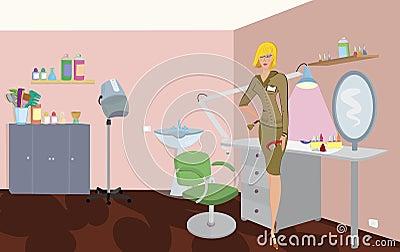 Beauty salon professional