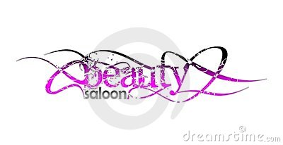 Beauty saloon and fashion logo