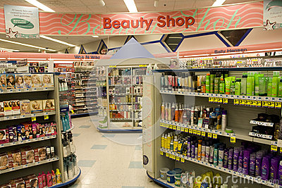 Beauty Shop Editorial Stock Photo