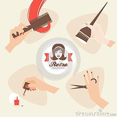 Beauty shop icons