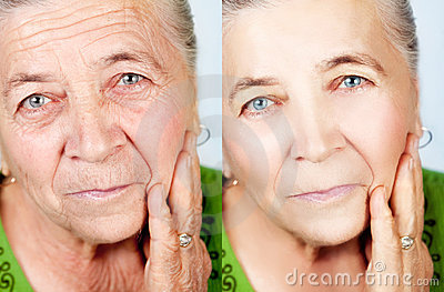 Beauty and skincare concept - no aging wrinkles