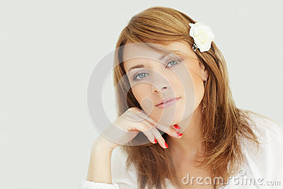 Beauty - smiling female face