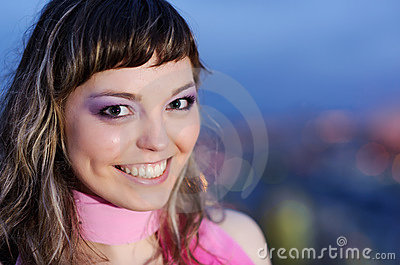 Beauty smiling positive woman