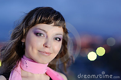 Beauty smiling positive woman