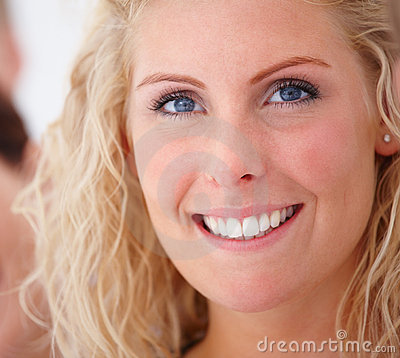 Beauty - Smiling young blond woman