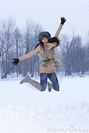 Beauty On Snowy Outdoors Stock Photo - Image: 17328500