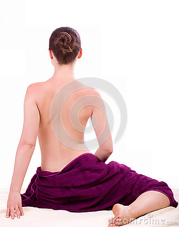 Beauty spa woman in towel