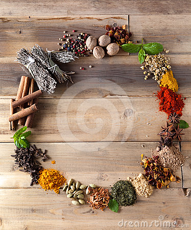 Beauty of spices and herbs