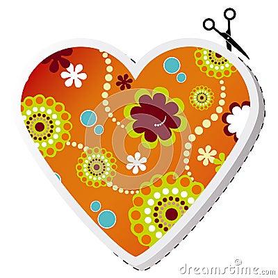 Beauty spring flower valentine heart