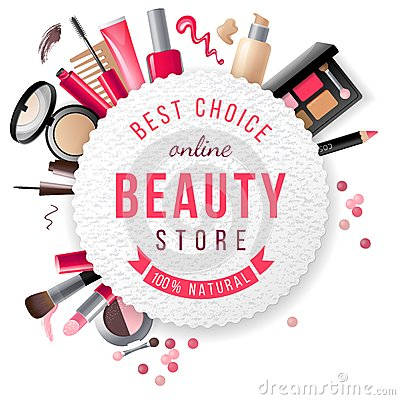 Free Beauty Store Emblem Royalty Free Stock Image - 47431866