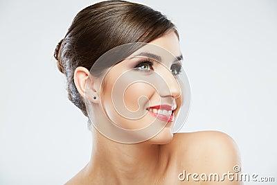 Beauty style close up woman face portrait