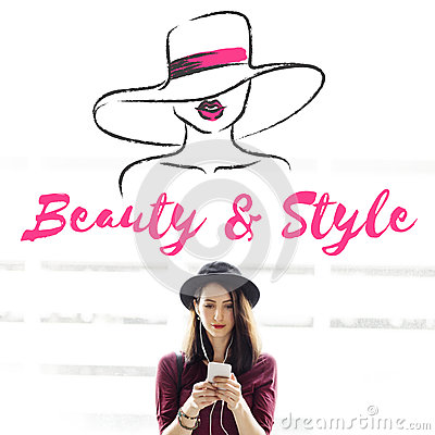 Free Beauty Style Girl Model Silhouette Text Concept Royalty Free Stock Photos - 85879638