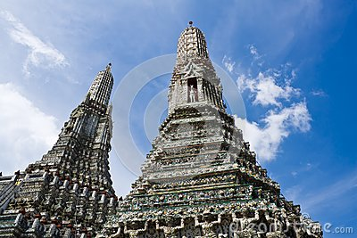 Beauty temple with blue sky