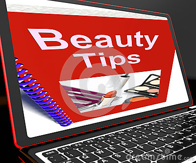 Beauty Tips On Laptop Showing Makeup Hints