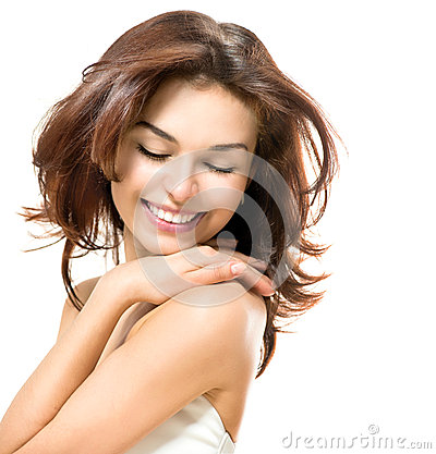 Free Beauty Touching Her Skin Royalty Free Stock Image - 37406496