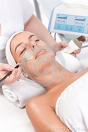 Beauty treatment in beauty salon