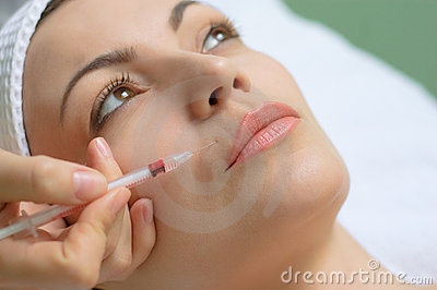 Beauty treatment, botox injection