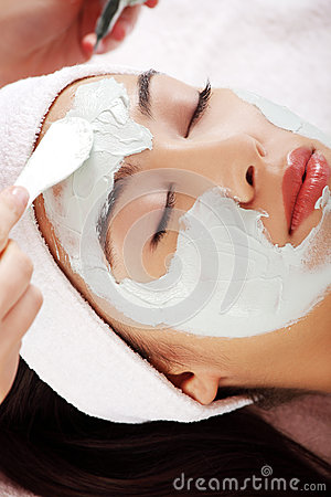 Beauty treatment in spa salon