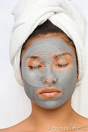 Beauty treatment teen in spa