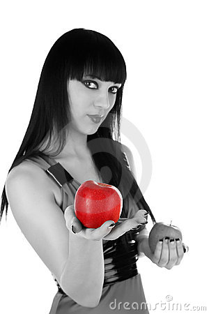 Beauty Treats Red Apple Royalty Free Stock Photo - Image: 12882125
